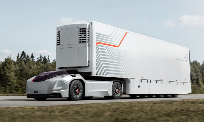 Volvo Vera jekoncept autonomního tahače připomínající sporťák