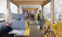 Vize interiéru vlaků budoucnosti NS od Mecanoo