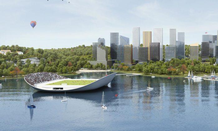Stockholm chce rozšířit město o120000 bytů novými domy aplovoucím sportovištěm