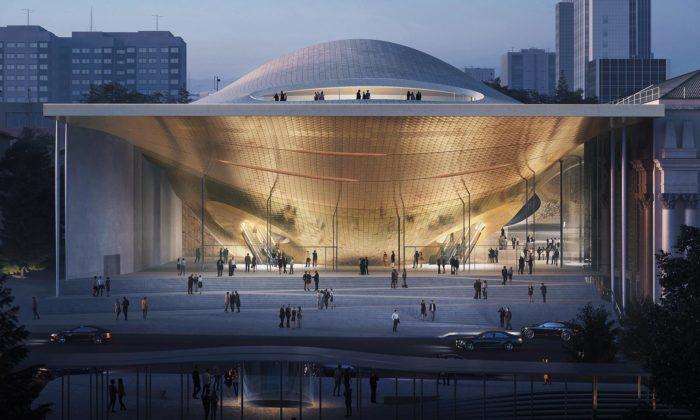 Zaha Hadid Architects postaví vruském Jekatěrinburgu rozvlněnou koncertní halu