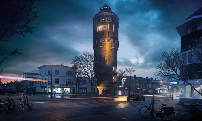 V Utrechtu přestavují vodárenskou věž zroku 1917 narestauraci abydlení