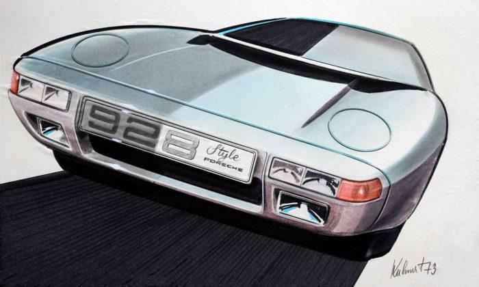 Brno vystavuje Porsche 928 idalší návrhy vozů odčeského designéra Jiřího Kuhnerta