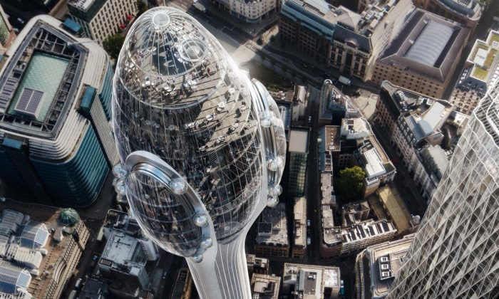 Londýn postaví vcentru vyhlídkovou věž The Tulip stvarem nerozkvetlého tulipánu