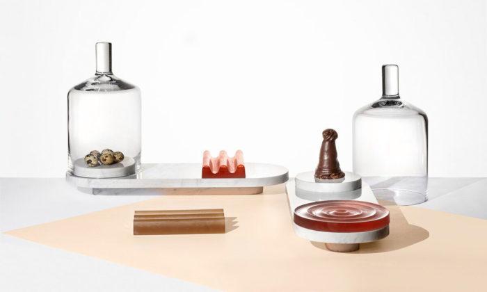 Petr Vykoukal aNatálie Navrátilová navrhli skleněné objekty ke slavnostnímu stolování