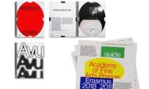 Obálky katalogu k diplomantské výstavě a průvodce studijními programy