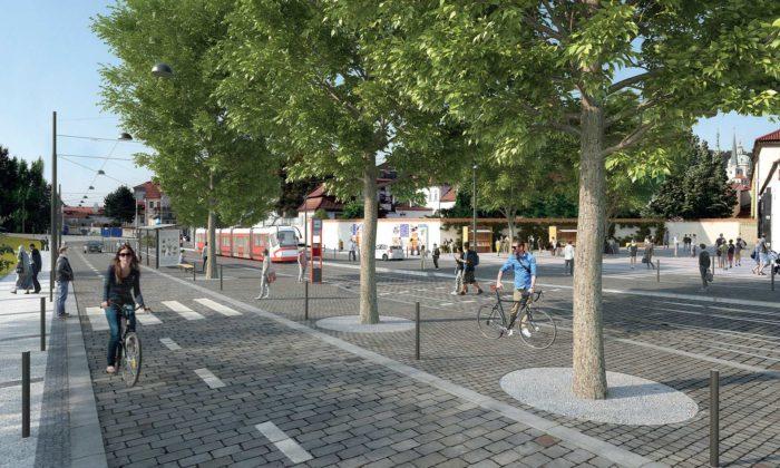 Praha doroku 2023 promění Klárov navýrazně zelenější abezpečnější