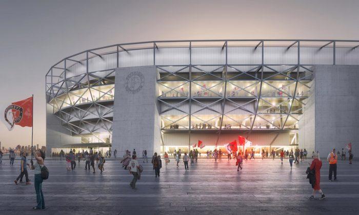 OMA zmodernizuje vRotterdamu stadion De Kuip apostaví vněm byty