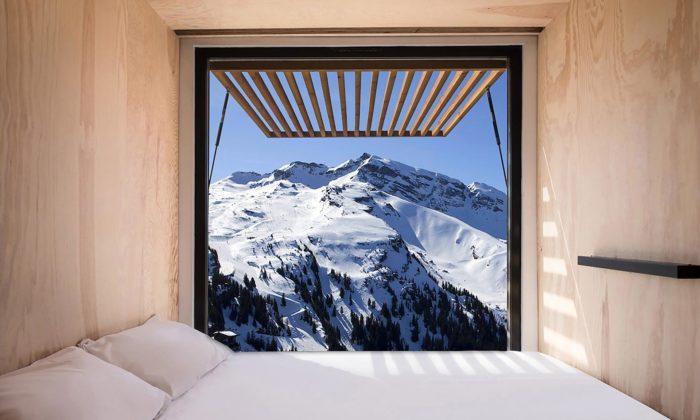 Ora Ïto navrhl dofrancouzských hor ubytování zdopravních kontejnerů