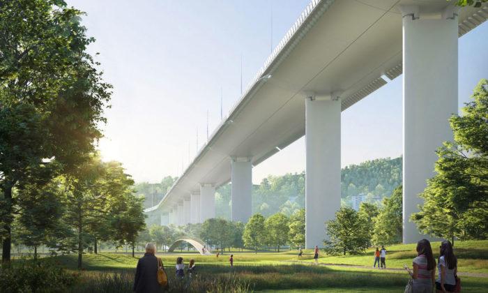 Renzo Piano navrhl nový most Ponte Genova místo nedávno zříceného mostu