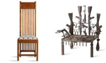 Ukázka z výstavy židlí Seats of Power