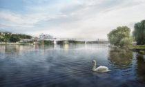 Vítězný návrh na Dvorecký most v Praze od ateliérů Tubes a Atelier 6