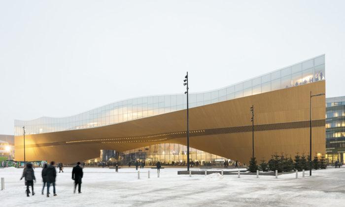 Helsinky postavily centrální knihovnu stvarem lodi astřechou evokující mraky