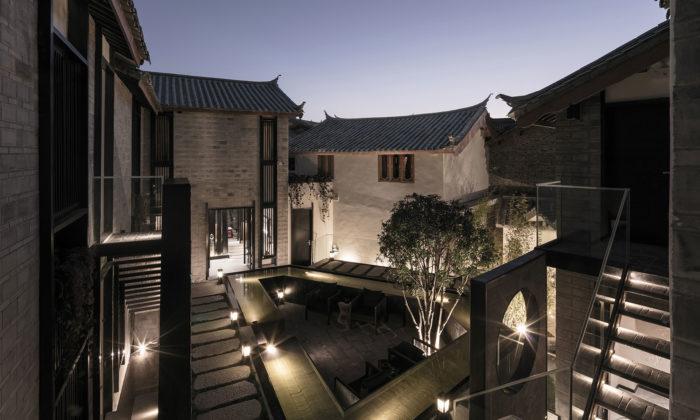 Na jihu Číny přestavěli část chátrajícího starého města nahotel Shen Mi Ji