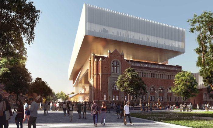 V australském Perthu staví nové moderní muzeum rozšířením budov z19.století