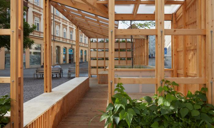 V Brně postavili pavilon pomáhající městům bojovat sklimatickými extrémy