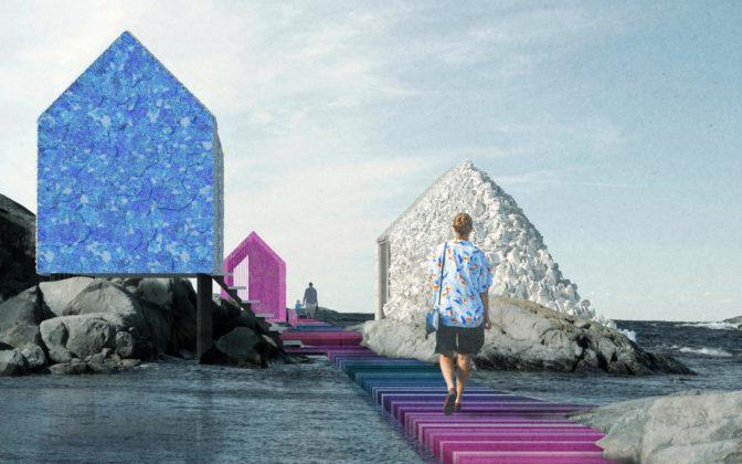 Na ostrově veŠvédsku mají vyrůst tři domky zodpadního plastu vyloveného zmoře