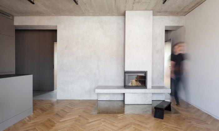 Architekti proměnili byt z50.let naindustriálně laděné bydlení pro mladou rodinu