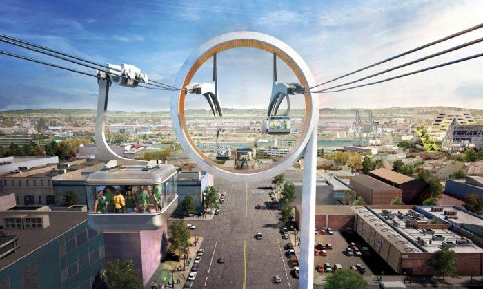 Oakland postaví ekologickou městskou lanovku podle návrhu architektů zBIG