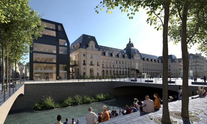 MVRDV přestaví amoderní přístavbou rozšíří historickou budovu Palais du Commerce