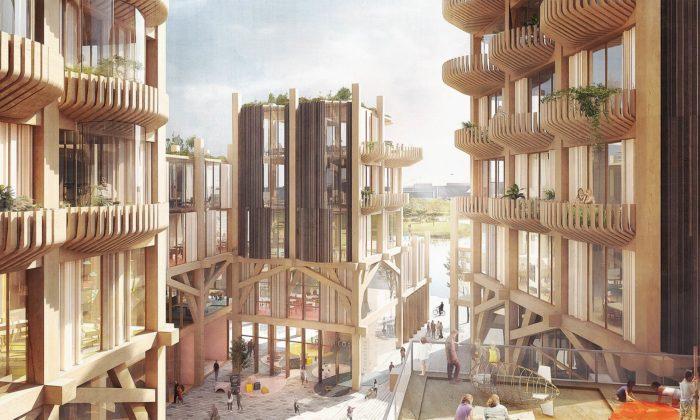 Toronto postaví novou multifunkční čtvrť Sidewalk kompletně celou ze dřeva