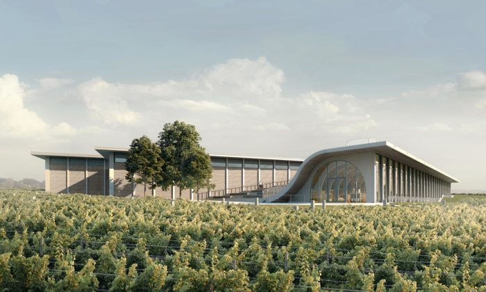 Chybík + Krištof staví veznojemském vinohradu vinařství Lahofer svyhlídkou nastřeše