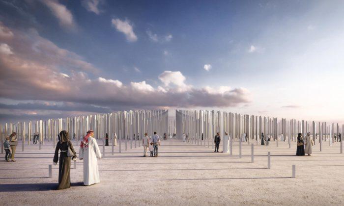 Dubaji postaví naoslavu šlechetnosti venkovní instalaci Ethar z1680 sloupů