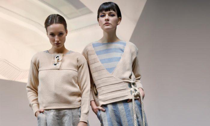 Monika Novakova navrhla módní kolekci ze lnu odkazující natradiční řemeslo