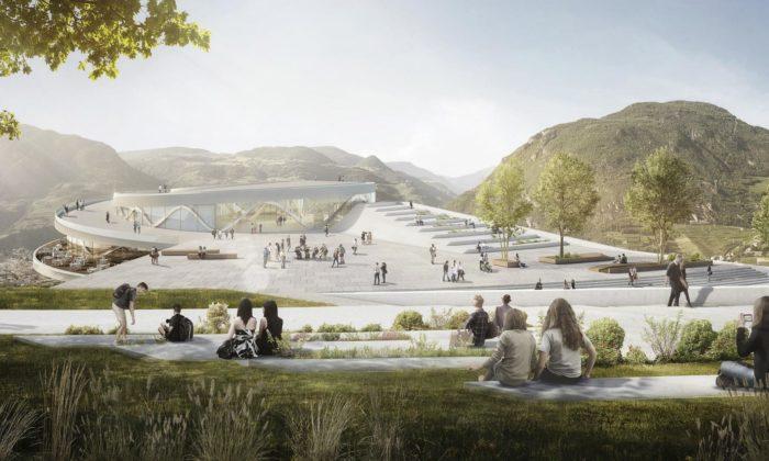 Snøhetta navrhla pro Bolzano muzejní čtvrť stojící navrcholku hory Virgilo