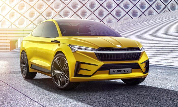 Škoda představila čtyřdveřový plně elektrický koncept crossoveru Vision iV