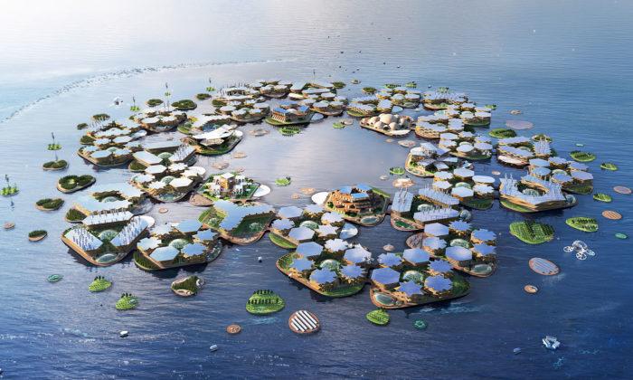 BIG navrhli ekologické plovoucí město Oceanix City pro trvalé žití namoři