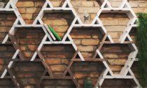 Modoo ajejich stěny zpapírových krabic