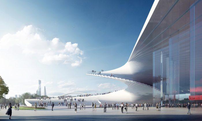 Snøhetta vŠanghaji postaví Grand Opera House svenkovním spirálovitým schodištěm