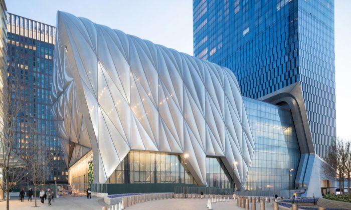 New York otevřel centrum umění The Shed spohyblivou střechou nakolech