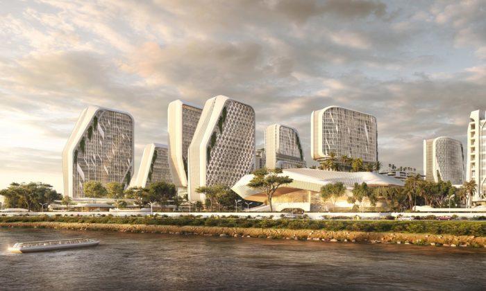 UNStudio navrhlo pro Indii futuristickou městskou čtvrť Karle Town Centre
