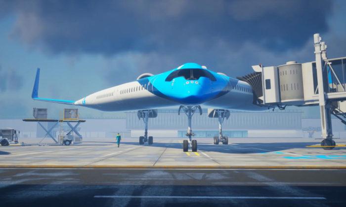 KLM aTU Delft vyvíjí extravagantní aekologičtější letadlo Flying V