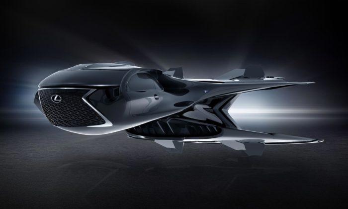 Lexus navrhl pro Muže včerném sporťák měnící sevintergalaktickou stíhačku