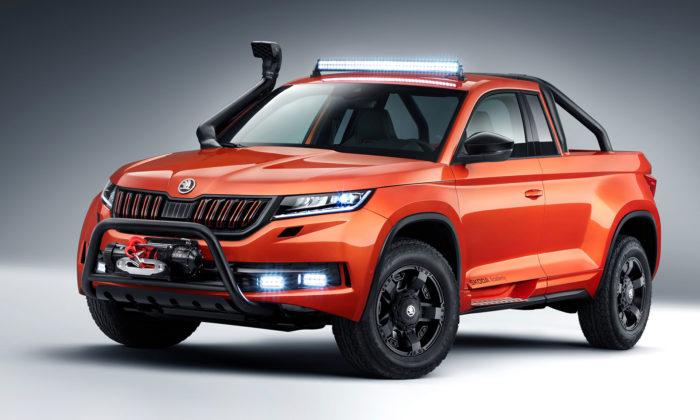 Čeští studenti navrhli plně funkční koncept pick-upu Škoda Mountiaq