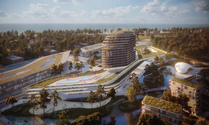 Češi začali umoře vGruzii stavět rekreační zelené město svilami ihotelem