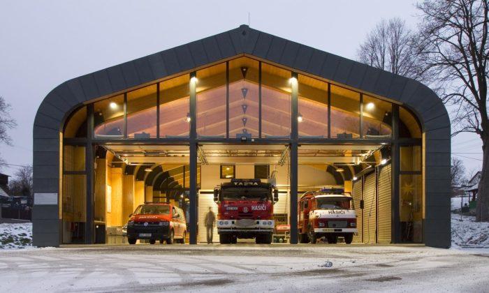 Krásná Studánka má novou hasičskou zbrojnici fungující ijako společenská místnost