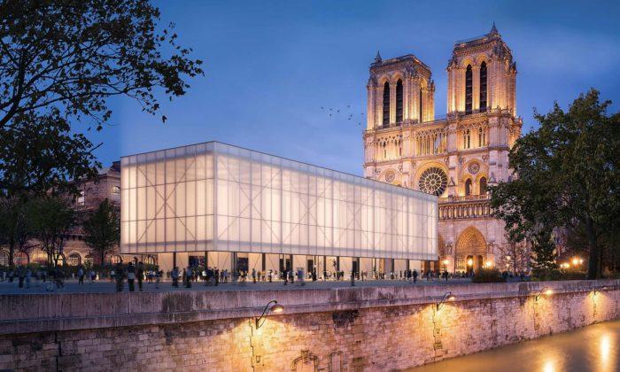 Gensler postaví před Notre-Dame dočasný pavilon pro bohoslužby itržiště