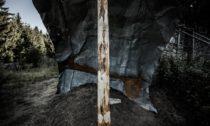 Plachta v zaniklé osadě Bügellohe