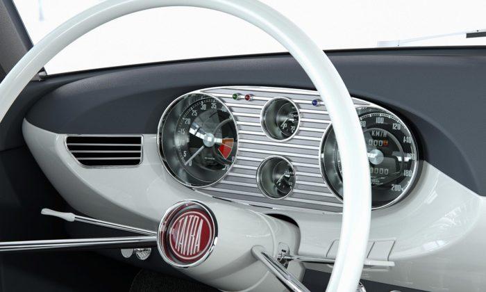 Znovu oživená Tatra 603 X Coupé odhaluje svůj interiér amíří dovýroby