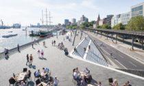 Promenáda podél řeky Labe vHamburku podle návrhu Zaha Hadid Architects