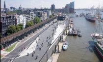 Promenáda podél řeky Labe v Hamburku podle návrhu Zaha Hadid Architects