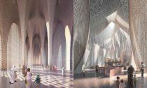 Interiér mešity a synagogy