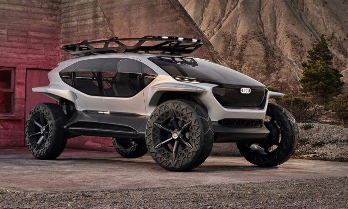 Audi ukázalo futuristický koncept terénního vozu AI:TRAIL Quattro