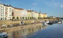 Kobky na pražské náplavce po proměně podle návrhu Petra Jandy