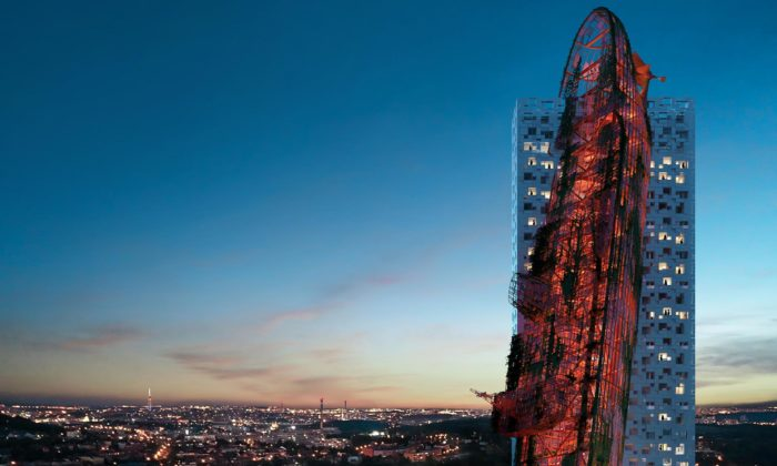 V Praze vyroste multifunkční věž Top Tower zdobená gigantickým vrakem lodi