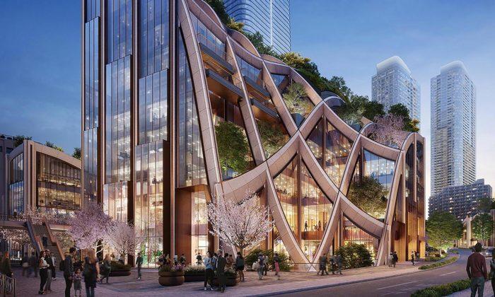 Heatherwick postaví vcentru Tokia zelenou multifunkční čtvrť seškolou itržištěm