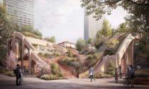 Tokijská čtvrť Toranomon-Azabudai podle návrhu od Heatherwick Studio